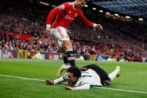 Golpe descalificador y gol anulado: las reacciones de Cristiano Ronaldo en la goleada que sufrió Manchester United (VIDEOS)