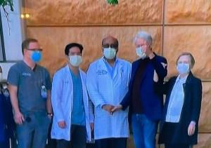 Bill Clinton abandonó el hospital tras pasar cinco noches ingresado por una infección (VIDEO)