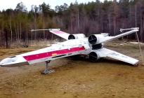 En VIDEO: Fanáticos de Star Wars construyeron alucinante caza X-Wing de tamaño real